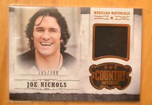 Joe Nichols 2014 Panini Country Music Musician Materials Worn Relic Card #D /399