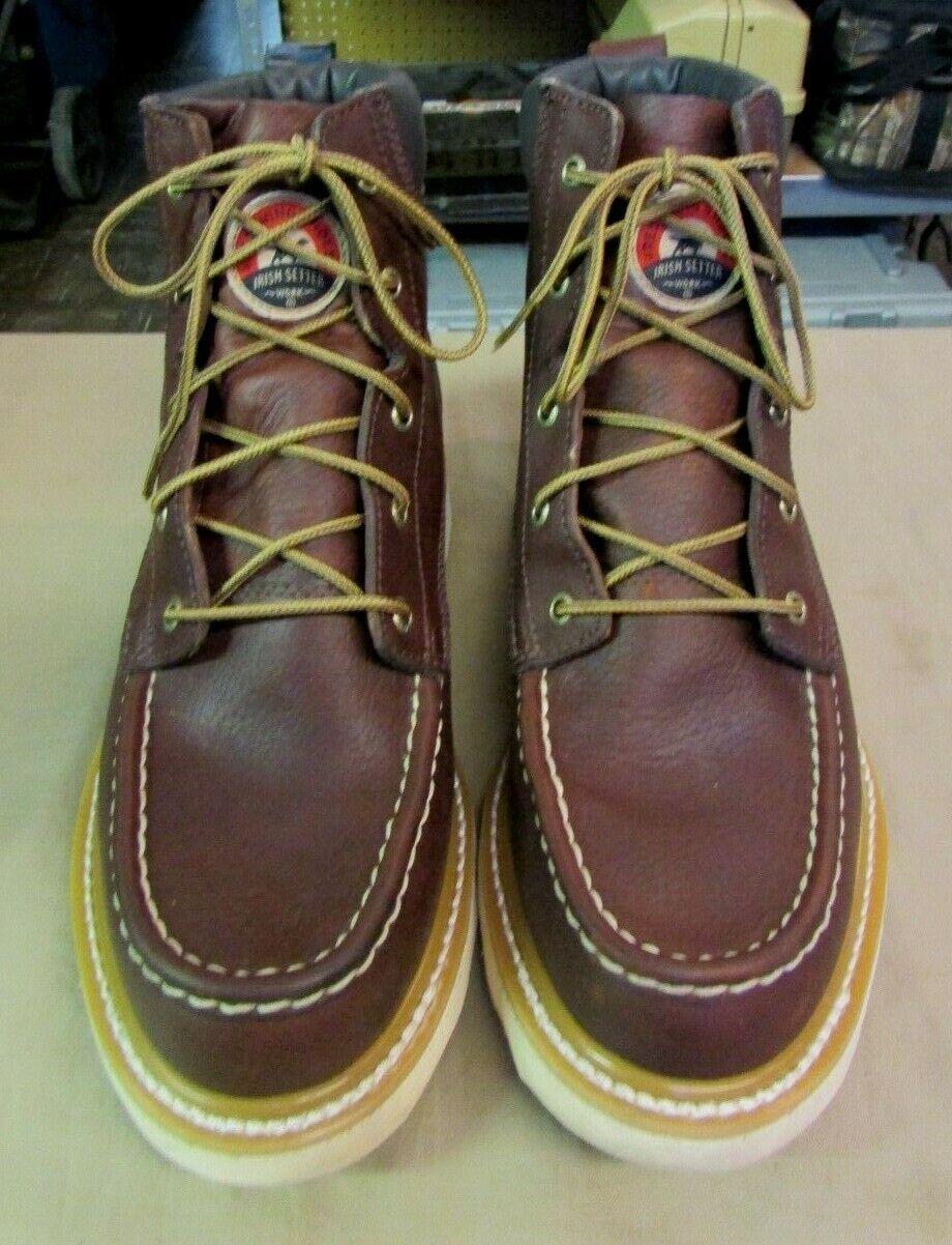 rojo Wing Irish Setter Ashby 6  marrón cuero suave del dedo del pie botas 83605 para hombre 12 D