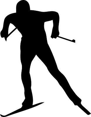 Skilanglauf - Aufbügler/Aufkleber mit Ihrem Wunschnamen - Neu