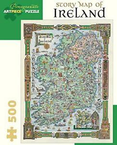 Story-Map-of-Ireland-500-piece-Jigsaw-Puzzle-by-Hardcover-Book-978076496933