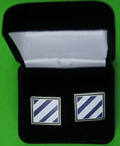 3rd-Infantry-Division-Army-Cuff-Links-in-Presentation-Case-034-Rock-of-the-Marne-034