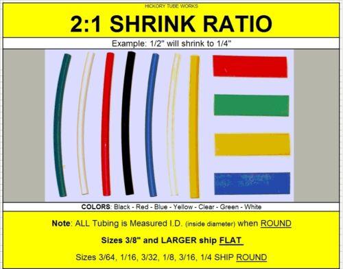 "1.25 inch ID CLEAR Polyolefin Heat Shrink Tubing 2:1 Ratio 82 Ft of 1-1//4/"""