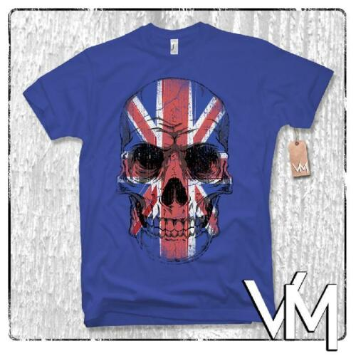 UK Skull t-shirt-inglaterra Union Jack Great Britain calavera United Kingdom