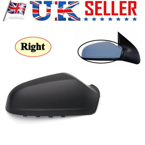 UK Right DRIVER SIDE WING DOOR BLACK MIRROR COVER FOR VAUXHALL ASTRA H 04-09 GJU