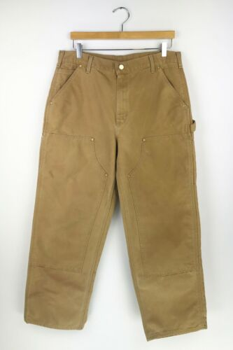VINTAGE CARHARTT WORK PANTS size 35 x 30 1/2  MADE