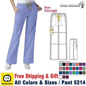07a6bad5b49 WonderWink Scrubs FOUR STRETCH Women's Sporty Cargo Pant_5214 PETITE ...