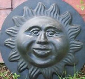 Huge blowing in the wind sun face plastic mold plaster concrete casting  mould
