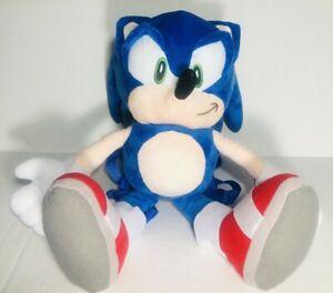 Sega Sonic The Hedgehog Plush Backpack Stuffed Figure Doll Toy Kids Ebay