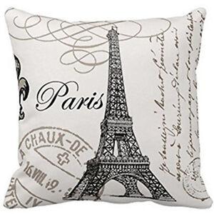 """18"""" Beauty France Paris Eiffel Tower Home Decorative Pillow Case Cushion Cover"""