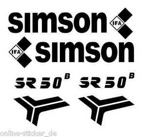 Aufklebersatz Schriftzug SIMSON SR50B Roller DDR Tankaufkleber Aufkleber AN1666