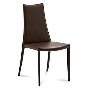 4 sedie pelle rigenerata oby cucina soggiorno cuoio fiore for Sedie cucina pelle