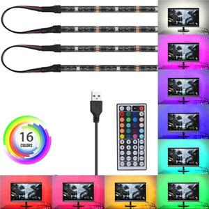 4X50cm-2x50cm-2x100cm-5V-USB-RGB-LED-Strip-Light-5050SMD-LED-Fairy-TV-Background