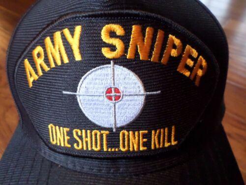 U.S ARMY SNIPER Hat One shot One kill officiel U.S Ball Cap U.S.A Made