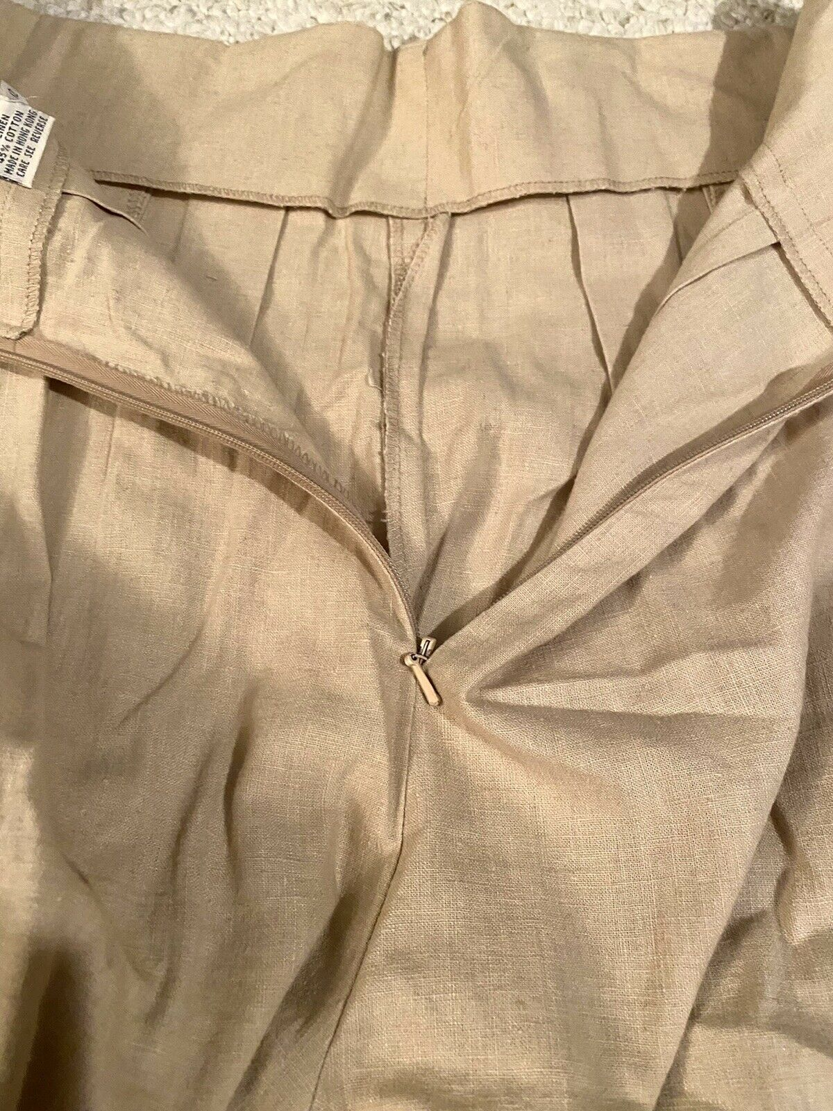 MARIE ST. CLAIRE Vintage Beige PLEATED Skort With… - image 6