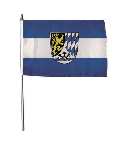 Stockflagge Fahne Flagge Meckesheim 30 x 45 cm