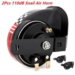 2X-Waterproof-Compact-Motor-Auto-Car-ATV-Loud-12V-510Hz-110dB-Snail-Air-Horns