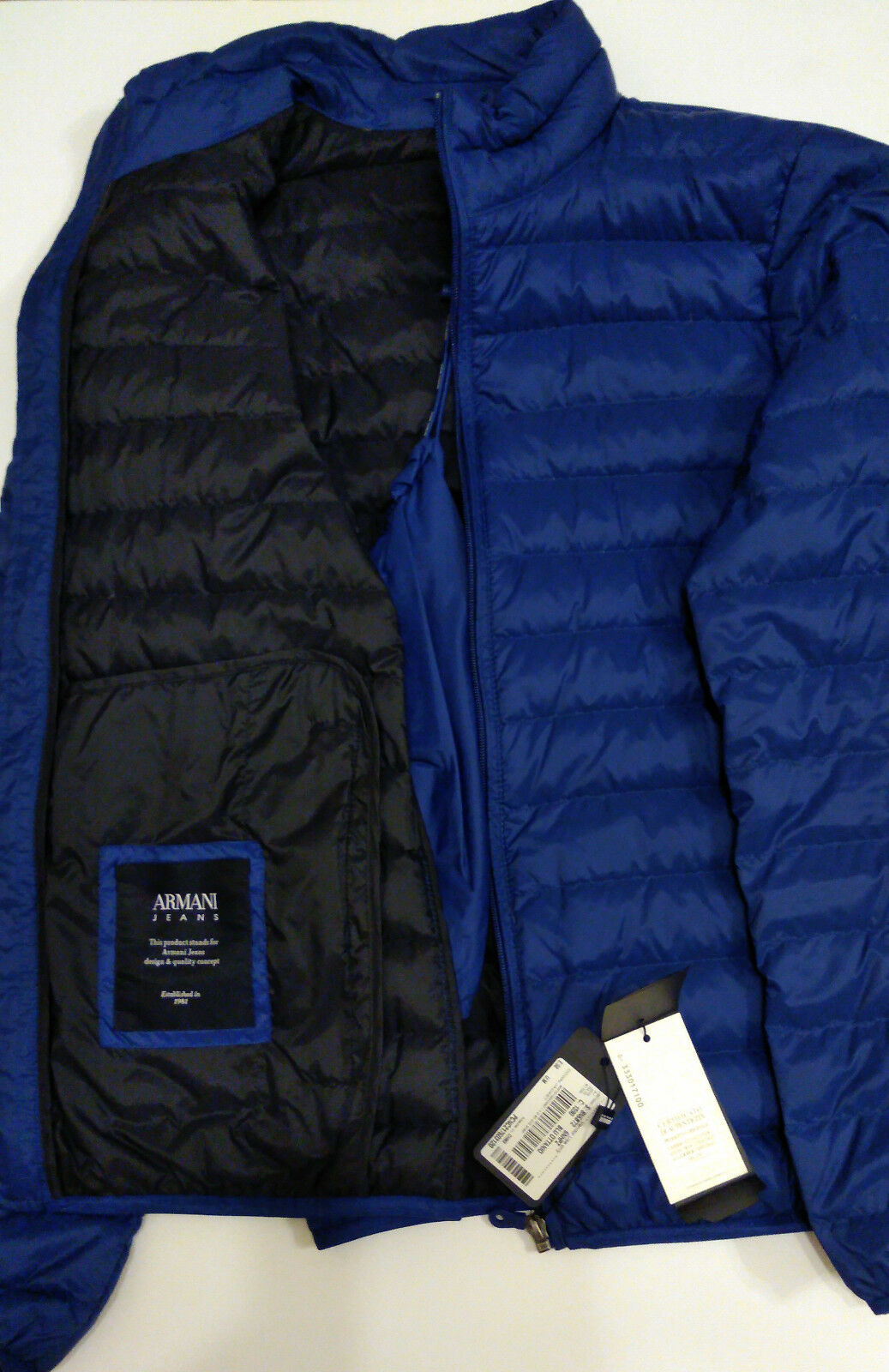 Genuine ARMANI JEANS Real Down Jacket RRP