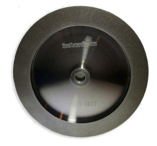 """grain 350 pour Outil Affûtage 5//8/"""" Arbor CBN roue bord droit 8/"""" diamètre"""