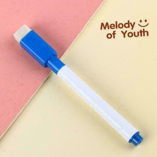 Details about  /Black White board Marker Dry Pen With Eraser Easy Wipe M8D5 Low Price Lid X8A0