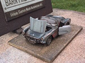 Barn Find Fantasy 1957 Corvette model, custom made, wreck ...