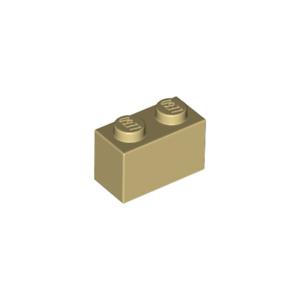 Lot x10 Lego 3004 Brique BEIGE Brick 1x2-4109995