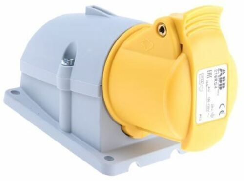IP44 Yellow Surface Mount 2P+E Right Angle Industrial Po ABB Easy /& Safe Series