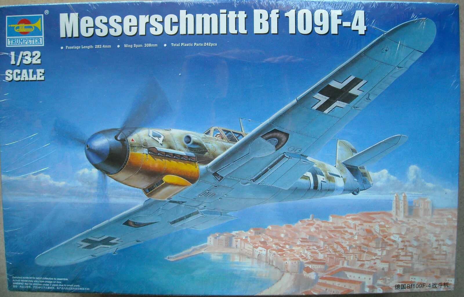02292 1 32 Aircraft Jet Kit Static German BF109F-4 Warcraft Airplane Trumpeter