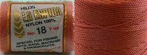 Omega-Nylon-Crochet-Thread-Size-18-Coral-Color-11-Nylon-Thread