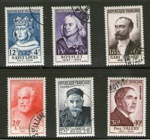 SERIE-TIMBRES-N-989-994-OBLITERES-TB-PERSONNAGES-CELEBRES