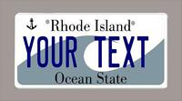 Rhode Island Custom Novelty Bicycle Mini License Plate- Name Or Text 3x6