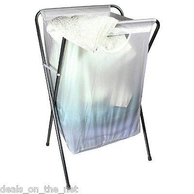 Addis White Laundry Washing Basket Clothes Hamper Linen Storage Bin Stowaway