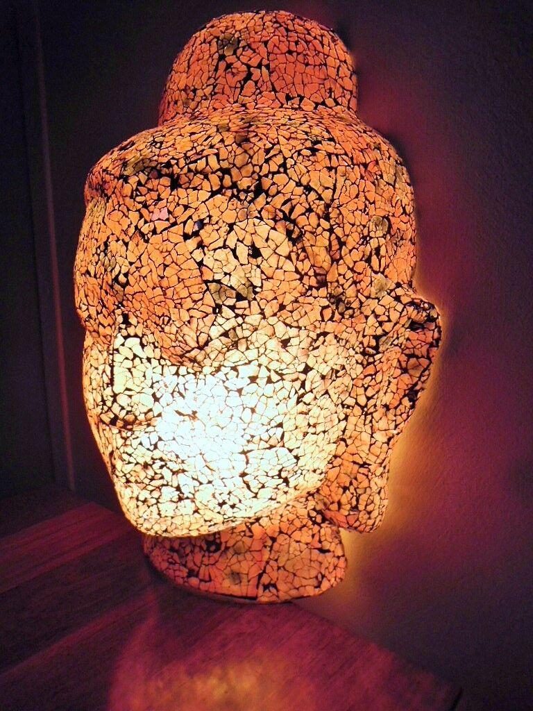 Mosaic Buddha Lamp - Wall Lamp (rot & tones)