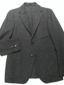 Our-Legacy-Small-36-Gray-Twill-Suit-Jacket-Slim-2-Btn-Vented-Patch-Pockets