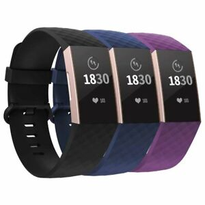 3-Pack-Straps-replacement-Sports-Wrist-band-For-Fitbit-Charge-3-amp-SE-Wristband