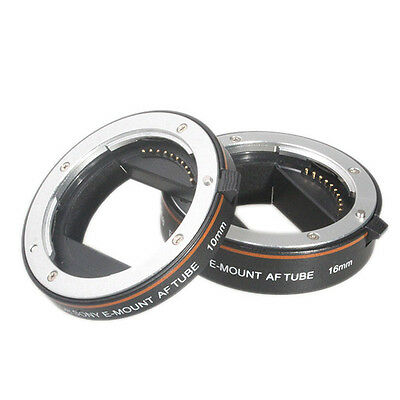 2nd Metal Automatic AF Macro Extension tube set for Sony NEX E-Mount F3 5N 5R 6