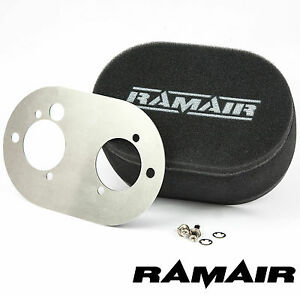 RAMAIR-Carb-Luftfilter-mit-Grundplatte-Dellorto-45-48-Dhla-65mm-Bolzen-Auf
