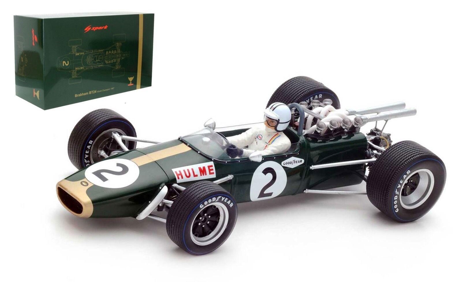 SPARK 18S224 Brabham BT24 Mexico GP 1967 WORLD CHAMPION-Denny Hulme échelle 1 18