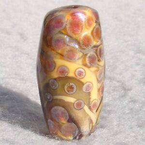 SONORA #2 Handmade Art Glass Focal Bead Flaming Fools Lampwork Art Glass SRA