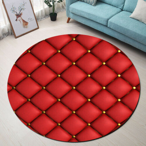 Red Soft Package Home Area Rugs Round Kids Play Carpet Room Floor Yoga Mat