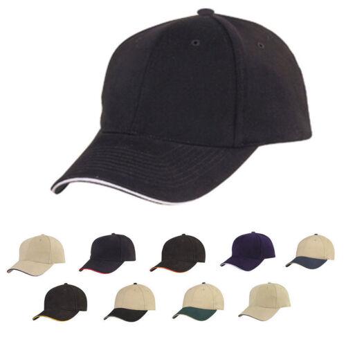 1 Dozen Brushed Cotton Sandwich 6 Panel Low Crown Baseball Hats Caps Wholesale