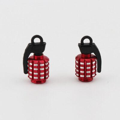 2X Black Plastic Grenade Car Motorcycle Wheel Tire Valve Stem Caps For BMW