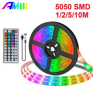 AMill 10M LED Strip Light USB 5050 SMD Flexible LED Lamp Tape RGB TV BACKLIGHT