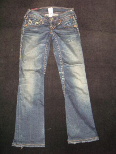 Droite T Big Gina True Sz Femmes W 24 Basse Jambe Religion Jeans Stretch Distressed HZwwx4