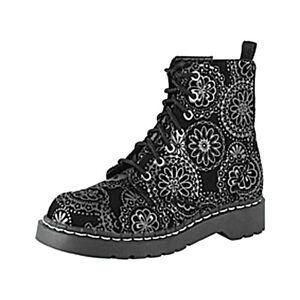 Boot Damen uk Eye u 38 5 T2178 Eu Black T 7 Anarchic k Velvet Doily wEYdqZp