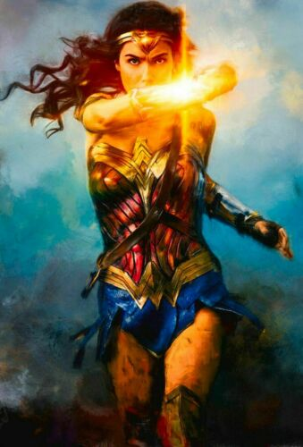 Wonder Woman Gal Gadot Shielding Painting Artwork Paint By Numbers Kit DIY