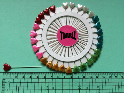 Knitters pins Hat pin wheels Heart Flower or Leaf   30 per wheel craft projects