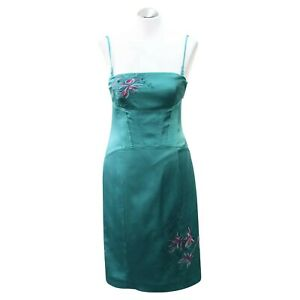 thoughts on new arrival hot product KAREN MILLEN JADE GREEN SILK EMBROIDERED FLOWERS SPAGHETTI STRAP ...