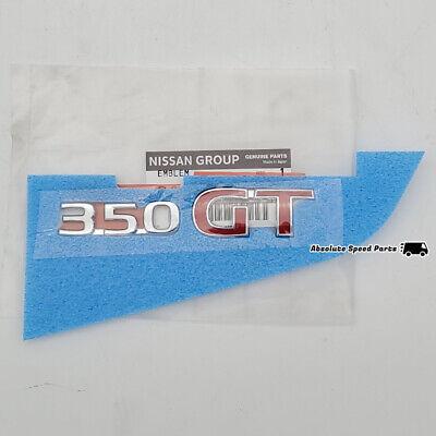 "JDM Nissan 03-07 Infiniti G35 Skyline V35 /""350GT/"" Rear Emblem Badge Genuine OEM"