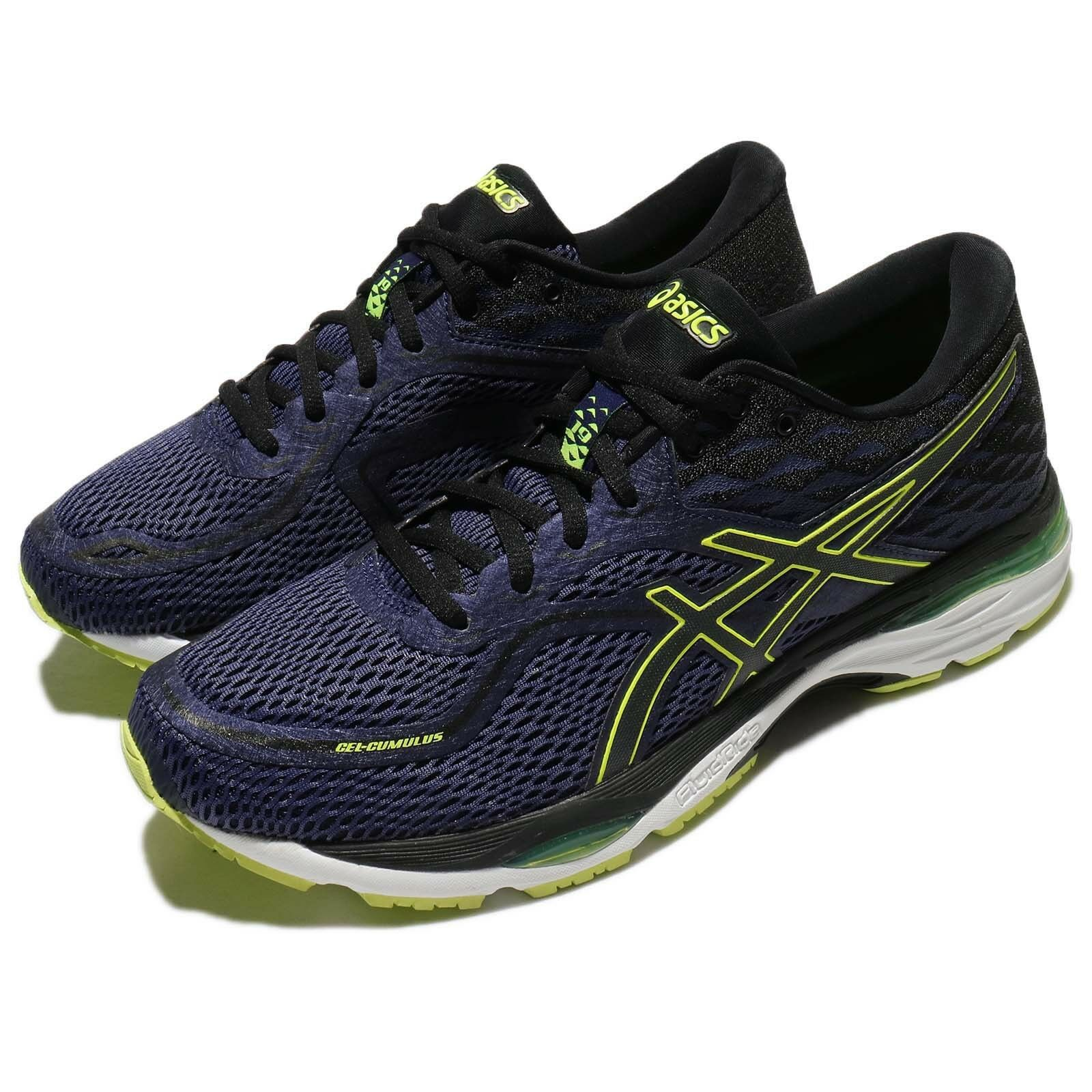 Asics Gel-Cumulus 19 blueee Safety Yellow Men Running shoes Trainers T7B3N-4990
