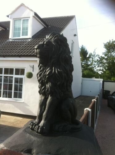 Lions deta Ornements paire de fiers Jardin Béton Pierre Lions de Pierre Pierre Lions